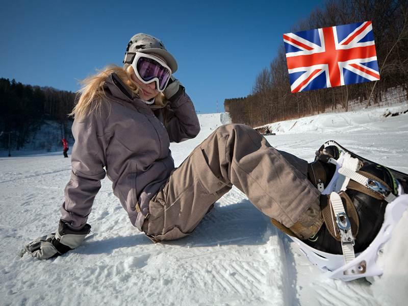 Ados pratiquant le snowboard en colo à Courchevel