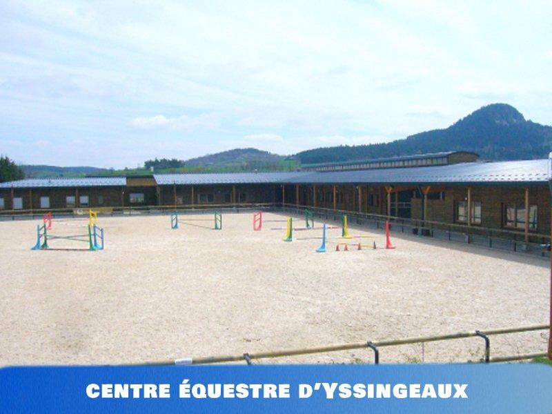 vue sur le centre equestre de colonie de vacances et stages sportifs d'yssingeaux