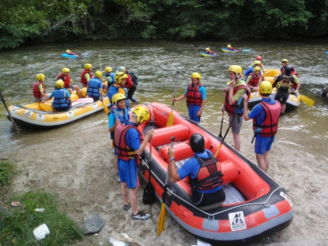 Colonies de vacances rafting