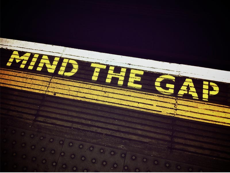 Mind the gap trains et métros londoniens