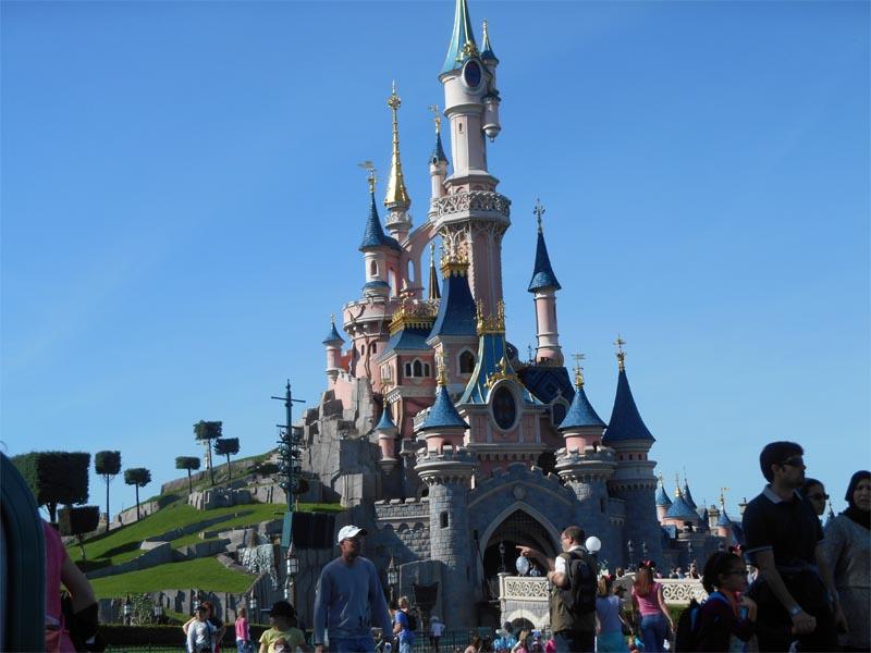 Chateau de Disneyland vu lors d'une colonie de vacances de paques