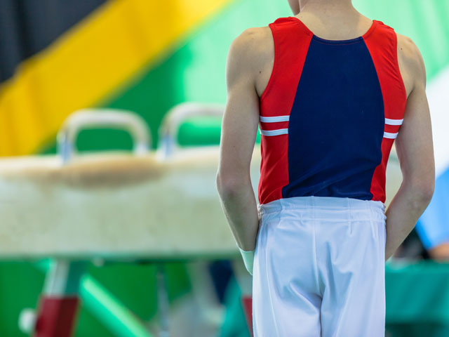 Gymnaste en stage sportif
