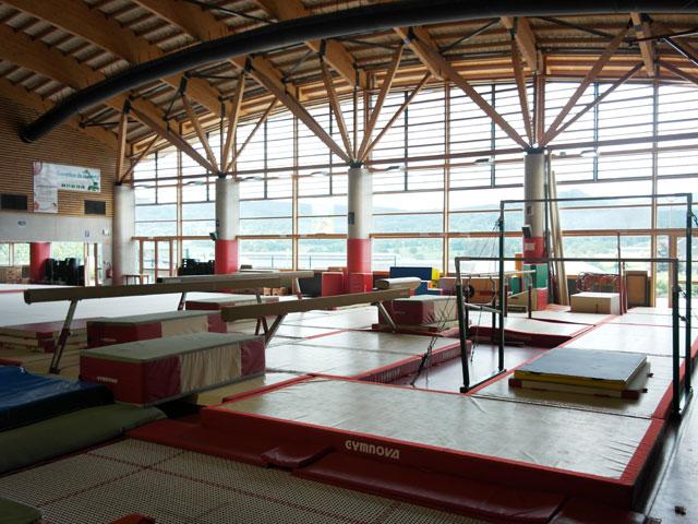 Salle de gymnastique du centre d'Yssingeaux