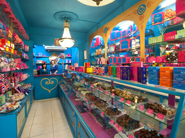 Boutique de bonbons à Londres