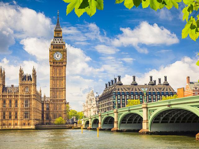 Vue sur Big Ben à Londres
