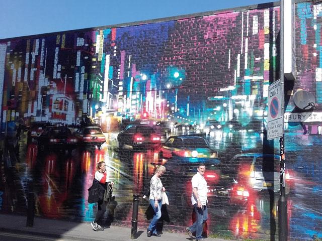 Mur décoré de Londres