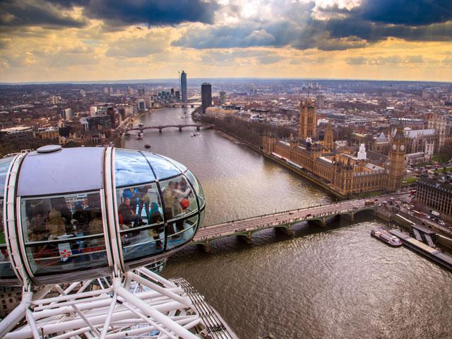 Vue sur le Thames depuis le London Eye