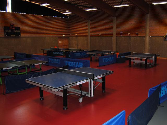 Salle de tennis de table au centre de colonies de vacances sportives