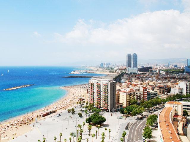 Vue sur les plages d'Espagne