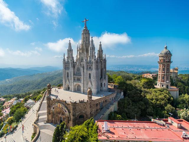 Vue sur les monuments de Barcelone