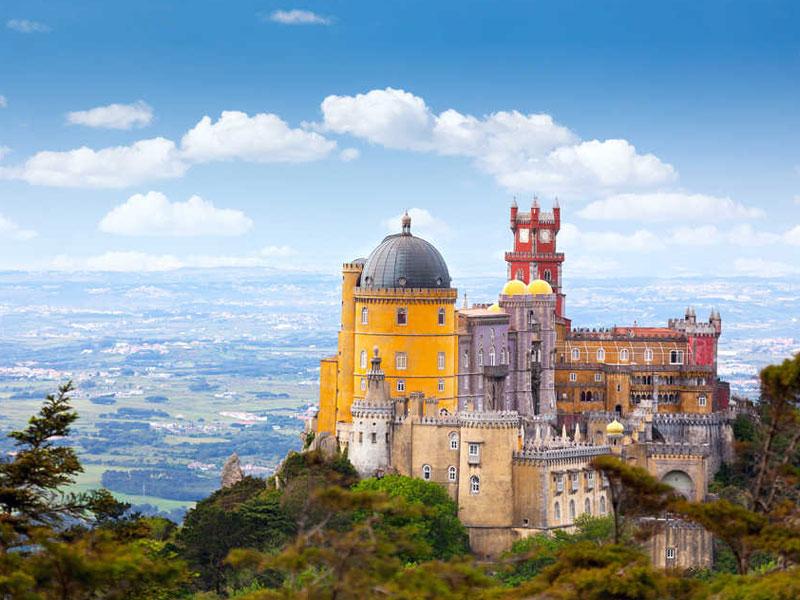 Palais de Pena à Sintra au Portugal en colonie de vacances