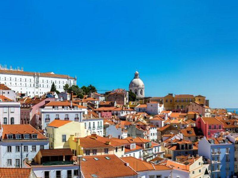 Vue sur les toits de la Lisbonne à Porto