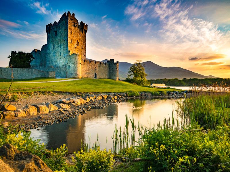 Paysages de l'Irlande au printemps