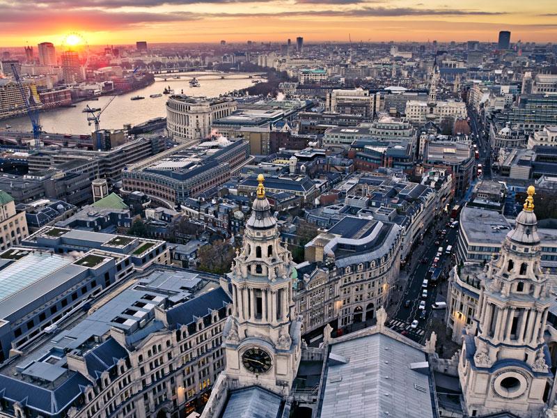 Londres vue du ciel en colonie de vacances