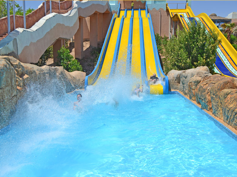 Parc aquatique d'Oasiria en colonie de vacances au Maroc