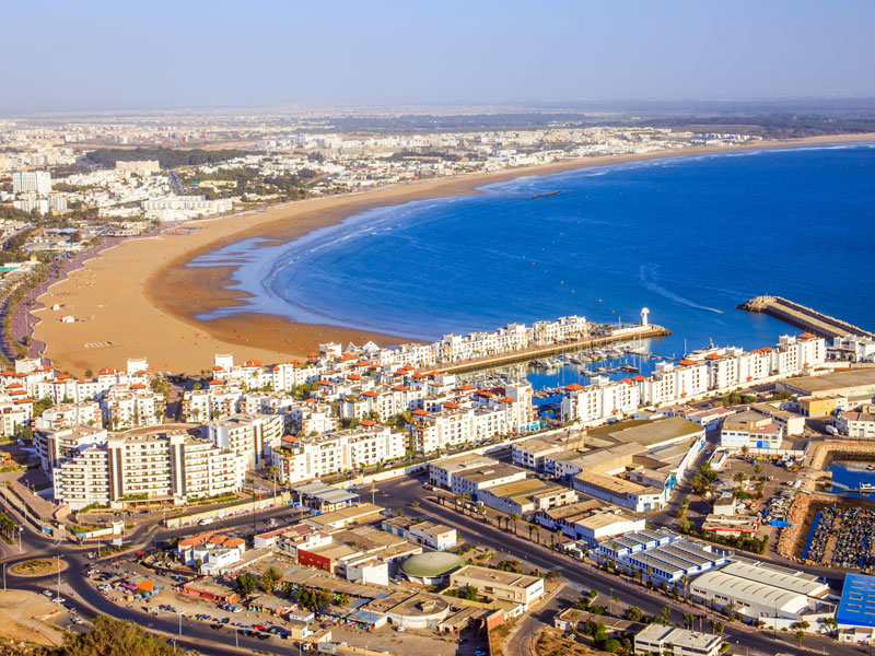 Plages du Maroc aperçues par les adolescents en colonie de vacances
