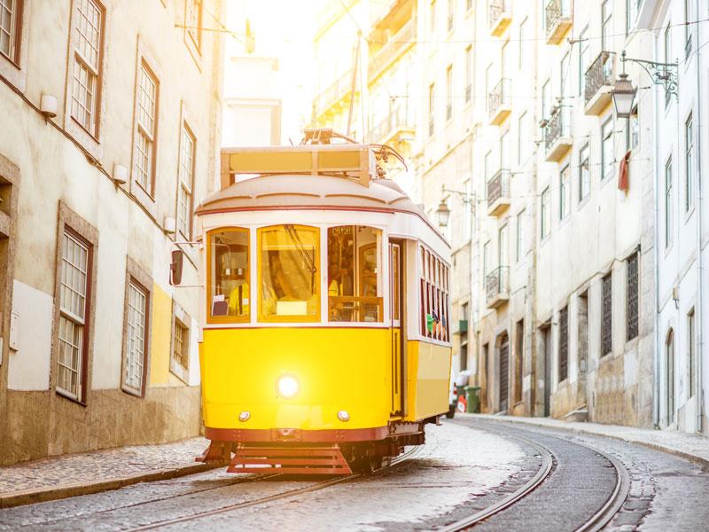 Funiculaire portugais vu par les ados en colo
