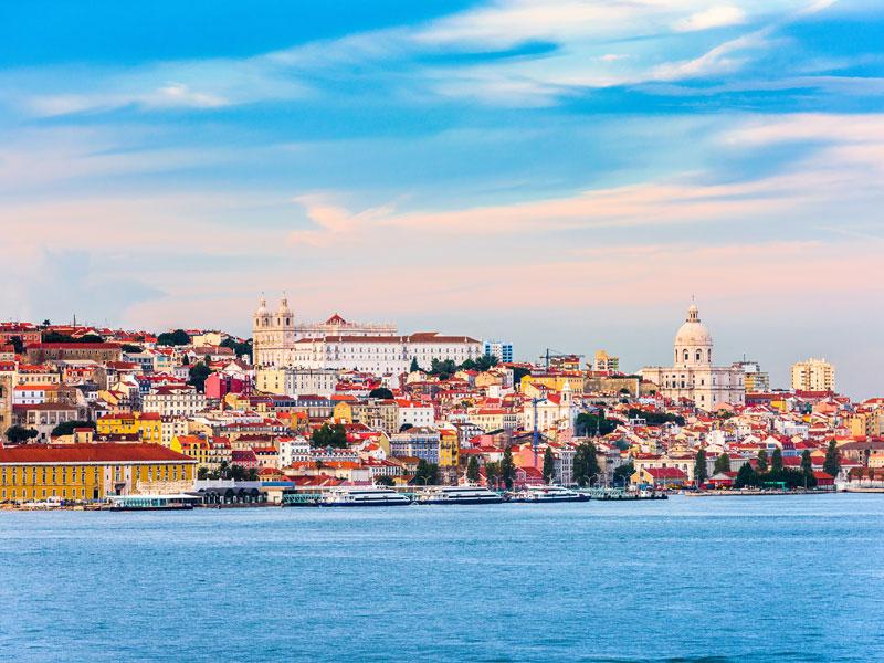 Paysage en bord de mer en colonie de vacances au Portugal