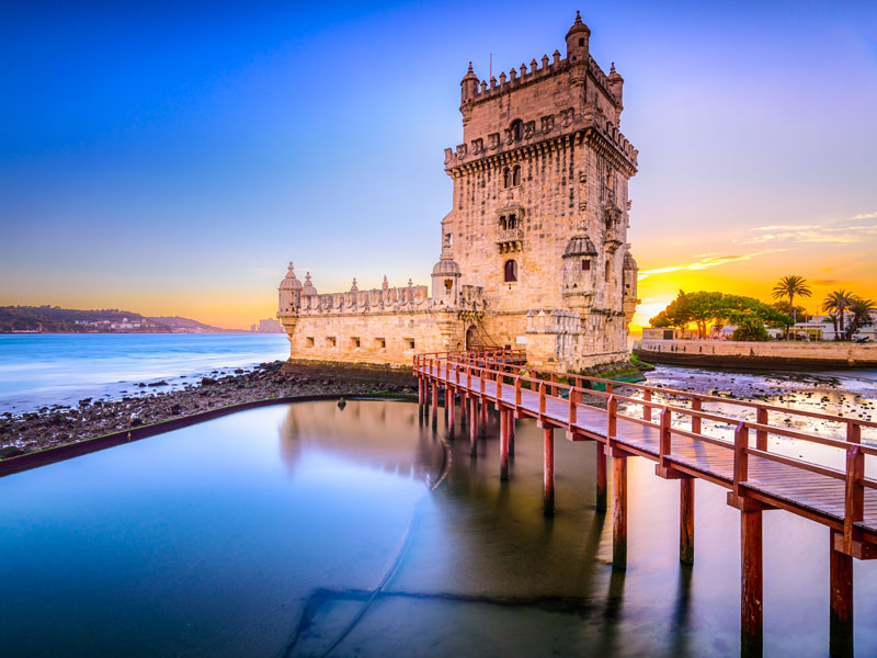 Vue en bord de mer ce printemps en colo au Portugal
