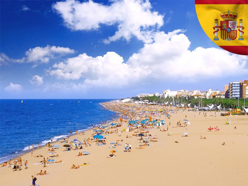 vue sur une plage d'espagne cet automne en colonie de vacances