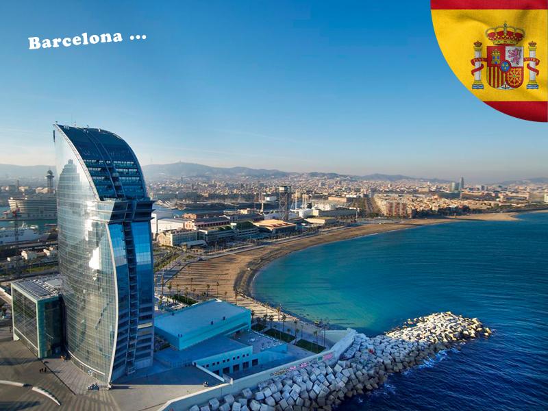 vue sur Barcelone en colonie de vacances pour ados