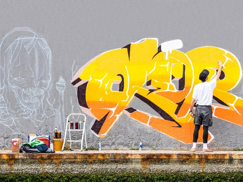 Street art en colonie de vacances à Berlin pour ados