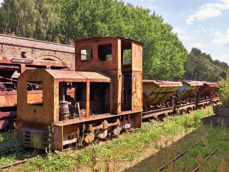 ancien train vu durant la colonie de vacances à Berlin pour ados