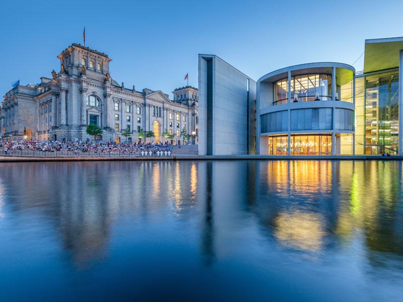 vue sur Berlin visitée en colonie de vacances pour ados cet automne