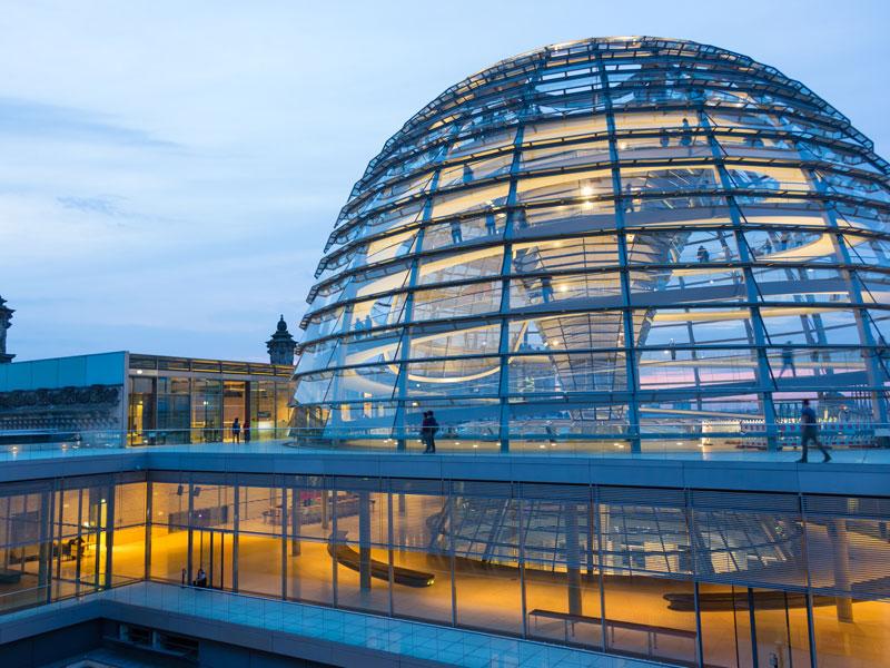 Monument de Berlin vu en colonie de vacances pour ados à la toussaint