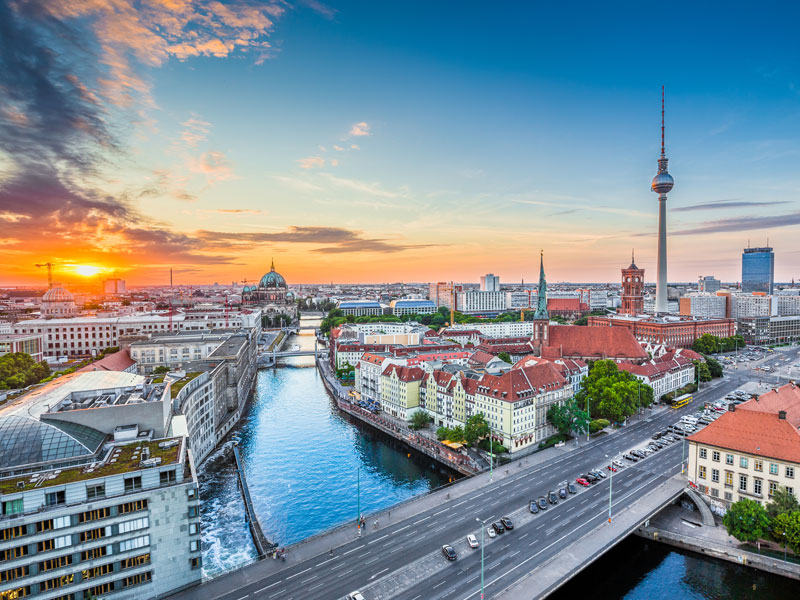 Vue surplombant Berlin en colonie cet automne