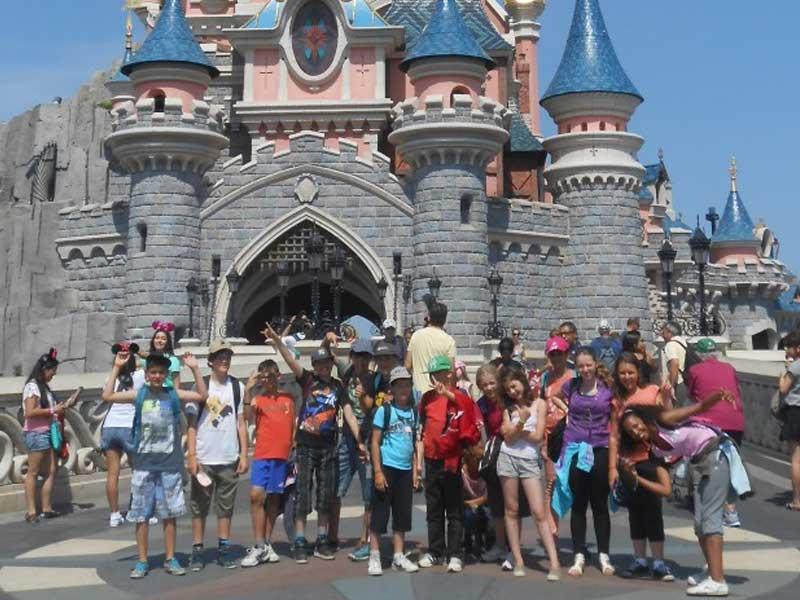 Chateau de Disneyland à Paris en colonie de vacances