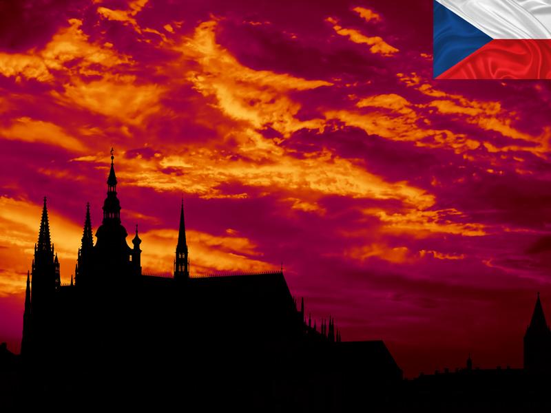 coucher de soleil à Prague en colonie de vacances pour ados cet automne
