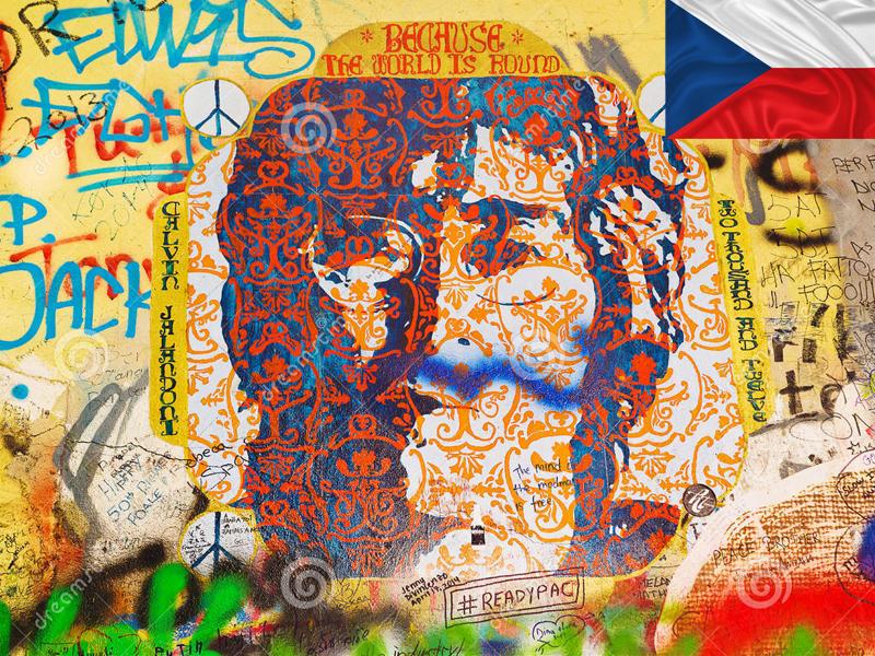 John lenon wall en colonie de vacances cet automne à Prague