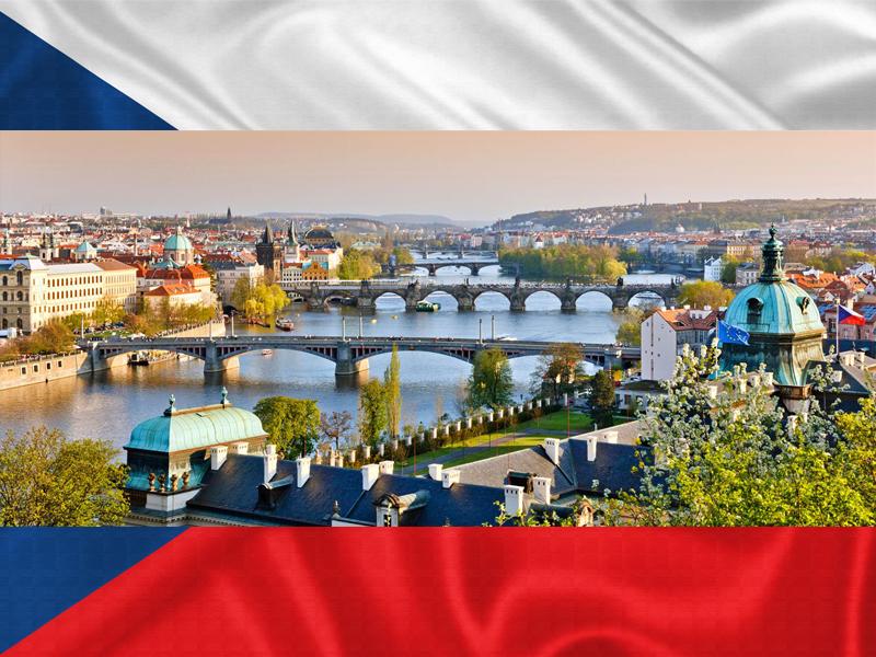 Paysages de Prague cet automne en colonie de vacances