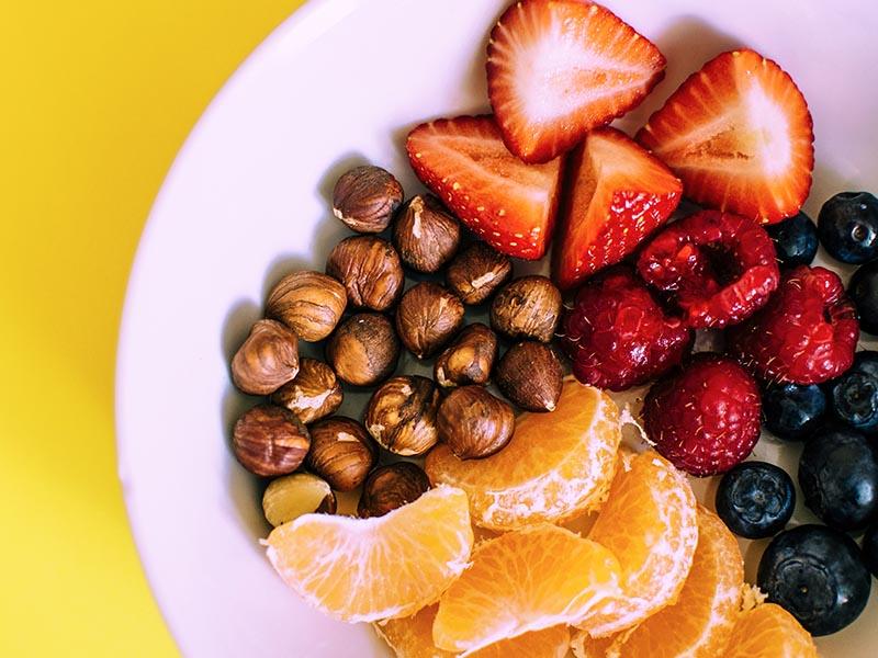 assiette de fruits en colo relaxation zen