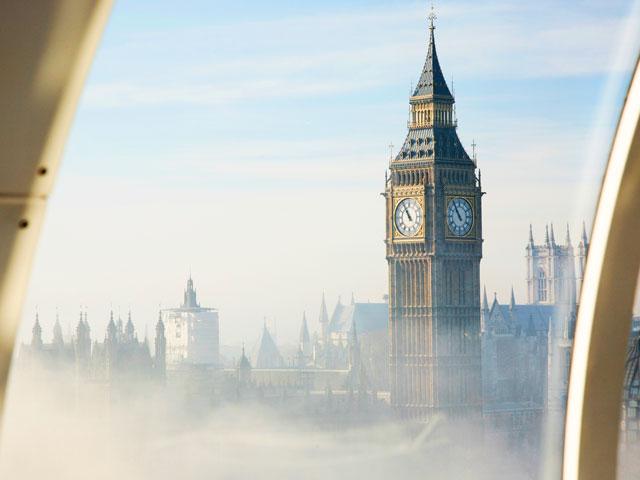 Vue depuis le ciel de Londres en colonie de vacances linguistique