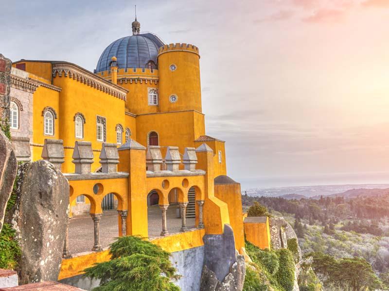 Vue sur Sintra en colonie de vacances cet automne