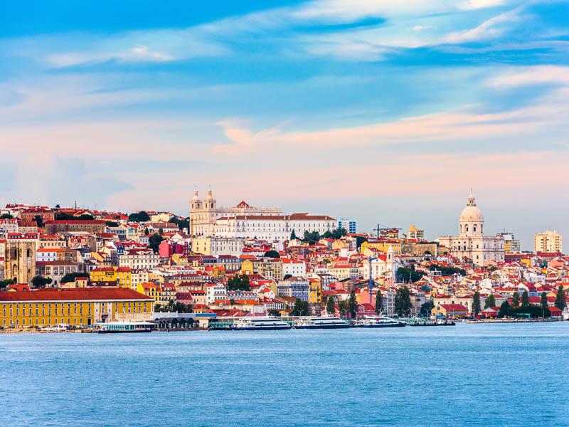 Vue sur porto au portugal en colonie de vacances
