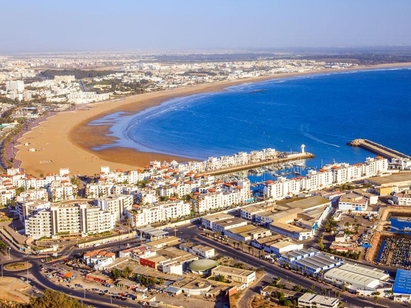 Vue sur Agadir en colonie de vacances au Maroc