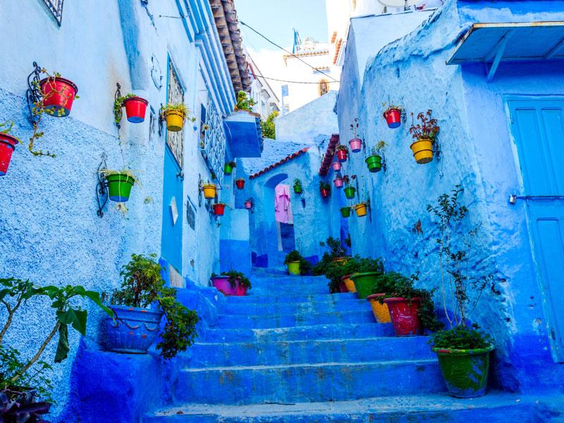 Vue sur les ruelles de Maroc en colo