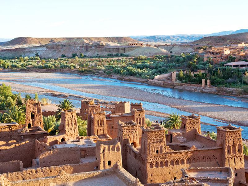 Vue sur les paysages duMaroc