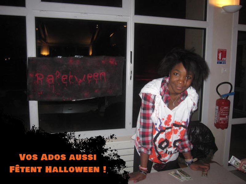 Adolescente déguisée pour Halloween