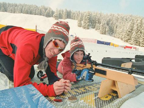 classe découverte biathlon hiver