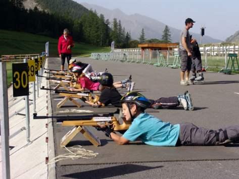 classe découverte Biathlon printemps