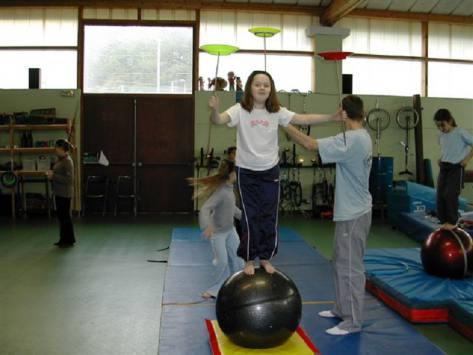 enfant en classe découverte cirque
