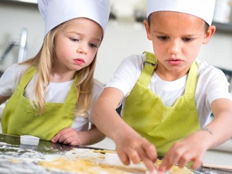 Classe découverte cuisine élèves