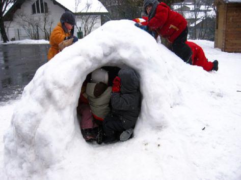 sortie scolaire a la neige
