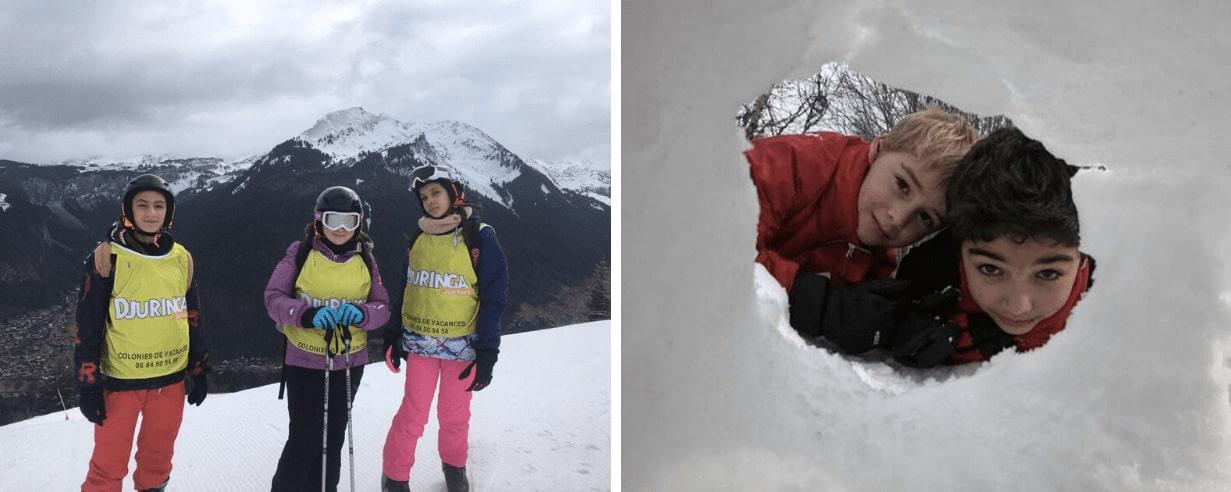 Enfants en colo cet hiver à la neige en février