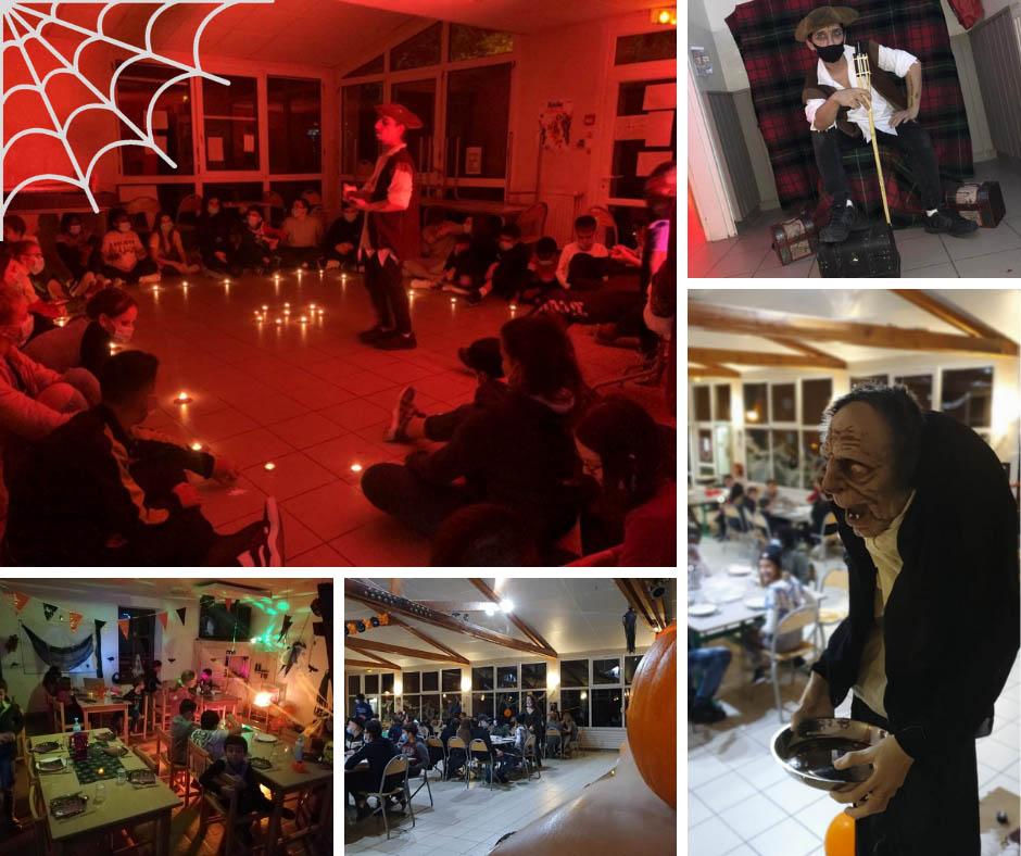 Photos de la fête d'Halloween pendant les colos de Toussaint 2020