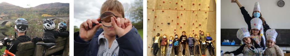 Photos d'enfants pratiquant des activités en colo